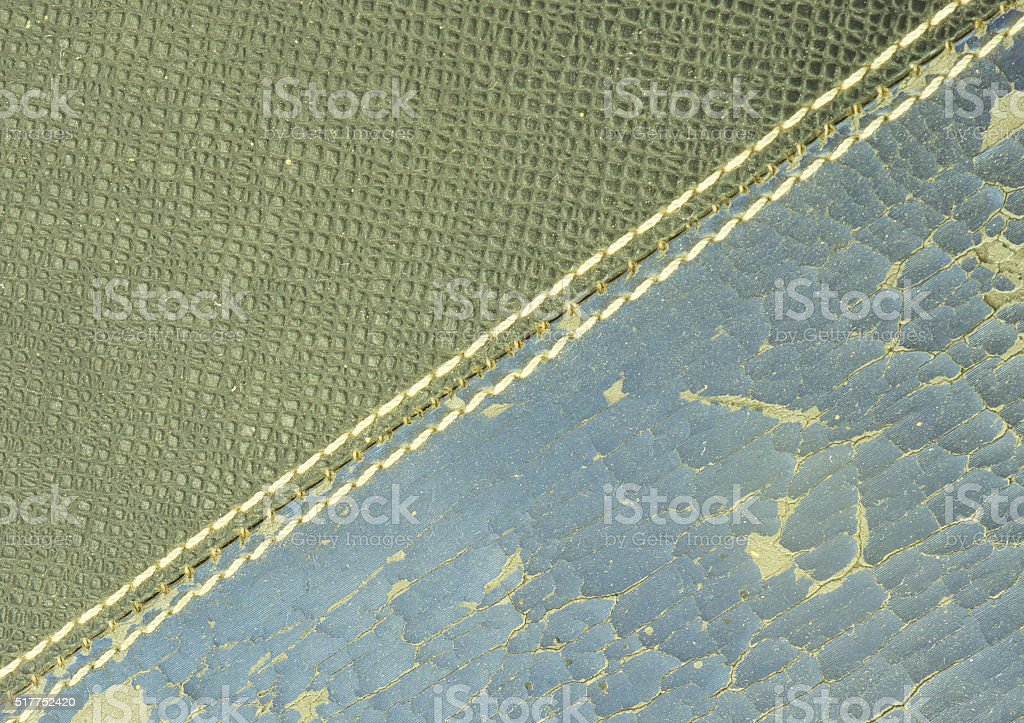 Leather cover of old book stock photo