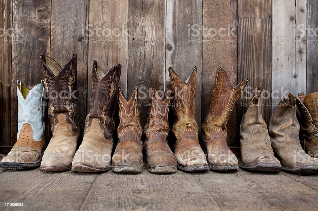 Leather cowboy boots royalty-free stock photo