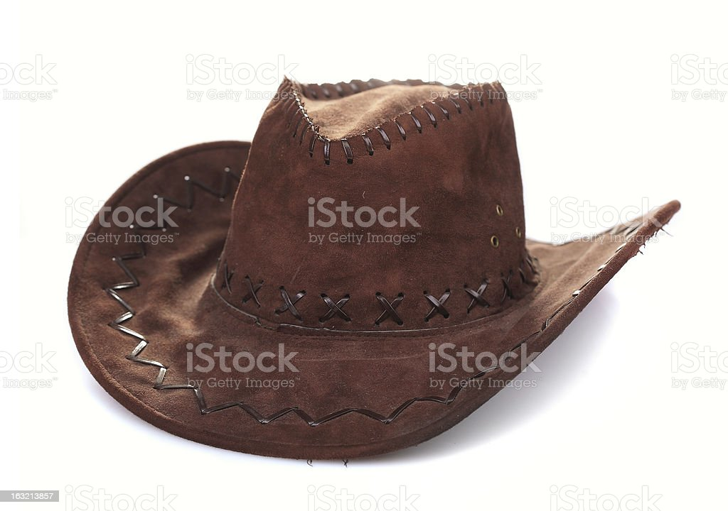 Leather cowboy hat royalty-free stock photo