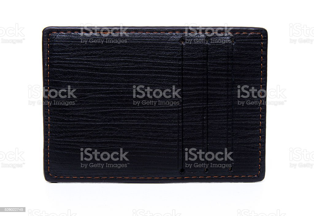 leather credit card holder stock photo