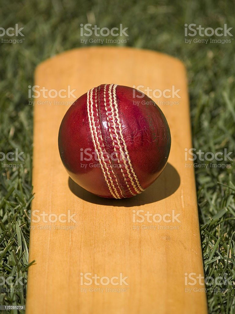 Leather Cricket Ball royalty-free stock photo
