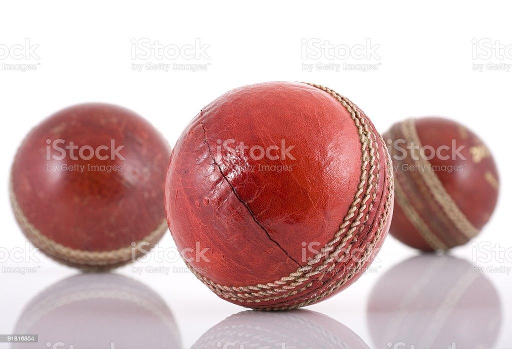 КОЖА мячи для крикета Стоковые фото Стоковая фотография