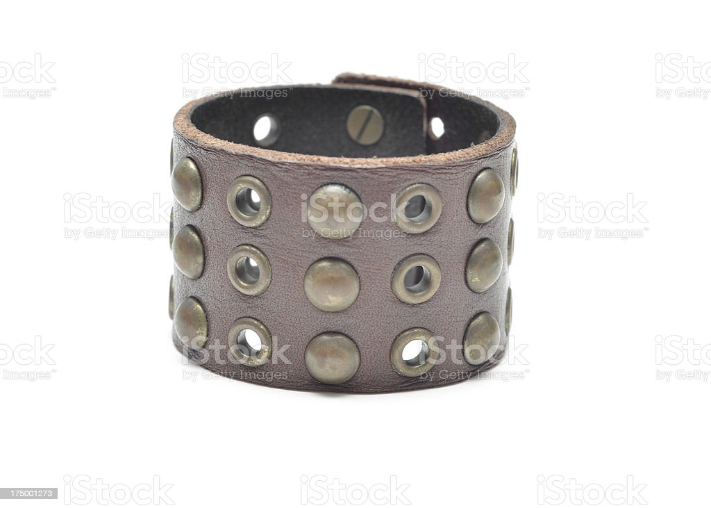 Leather Cuff stock photo