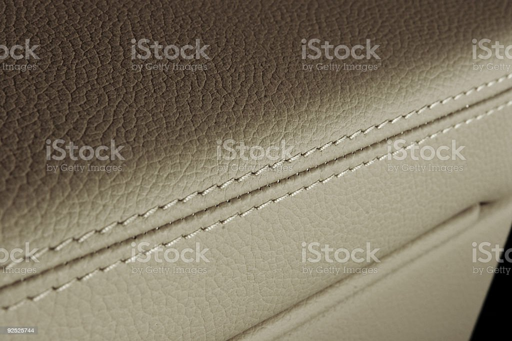 Leather detail royalty-free stock photo