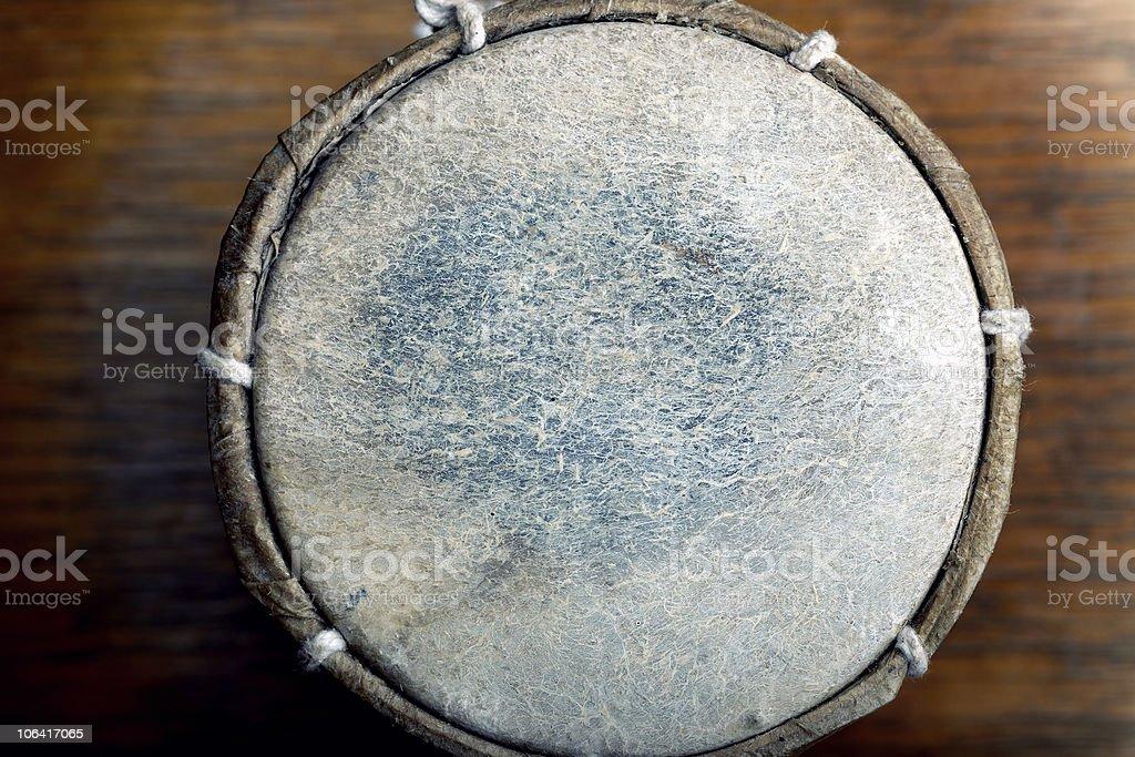 Leather drum stock photo