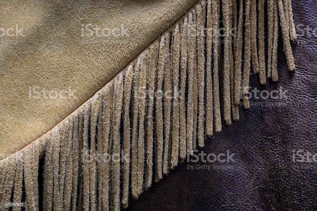 Leather Fringe Detail stock photo