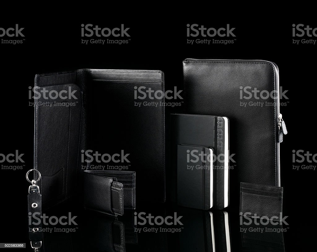 leather gifts stock photo