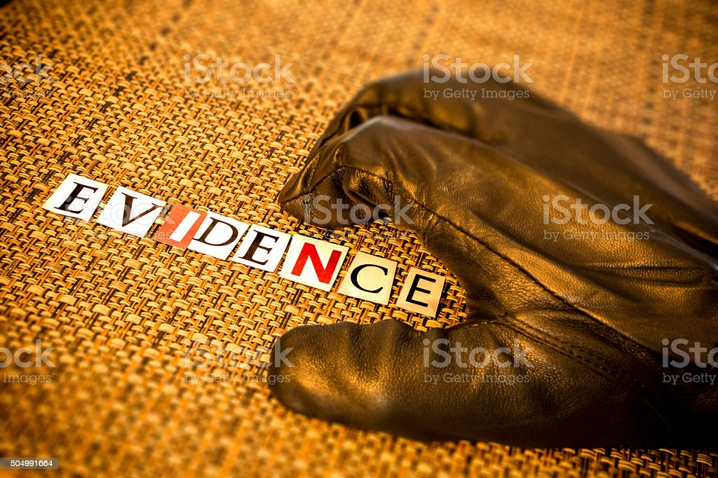 Leather Glove - Evidence stock photo
