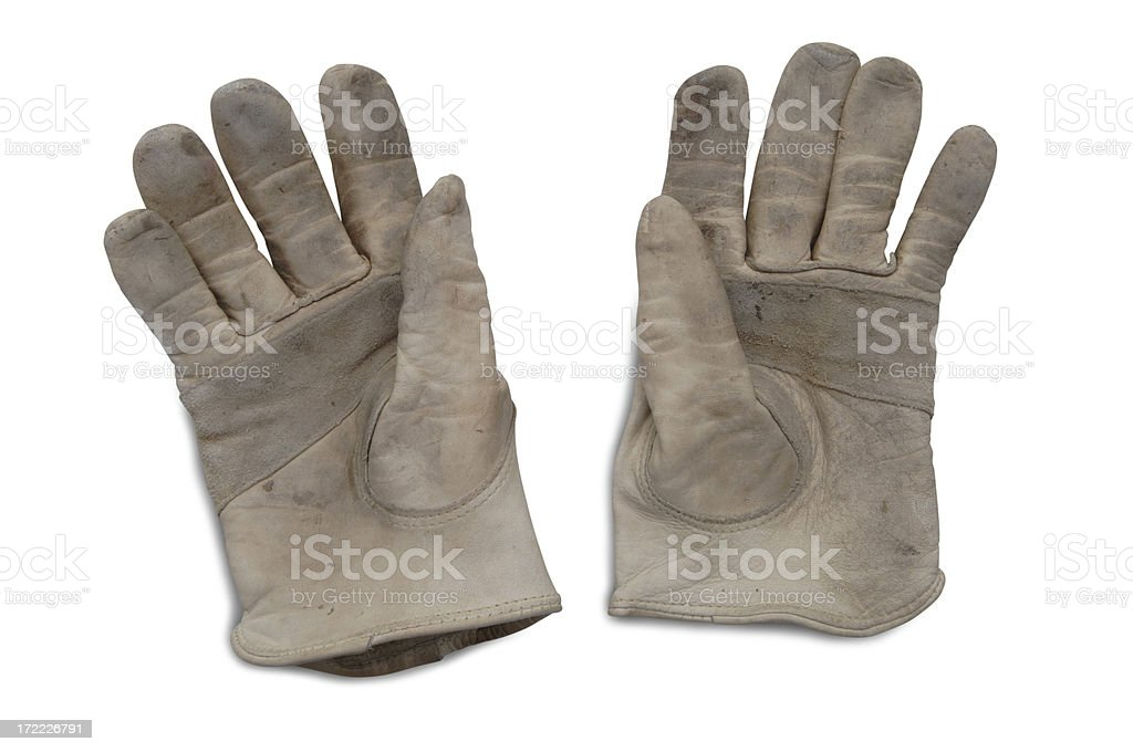 Leather Gloves with Paths royalty-free stock photo