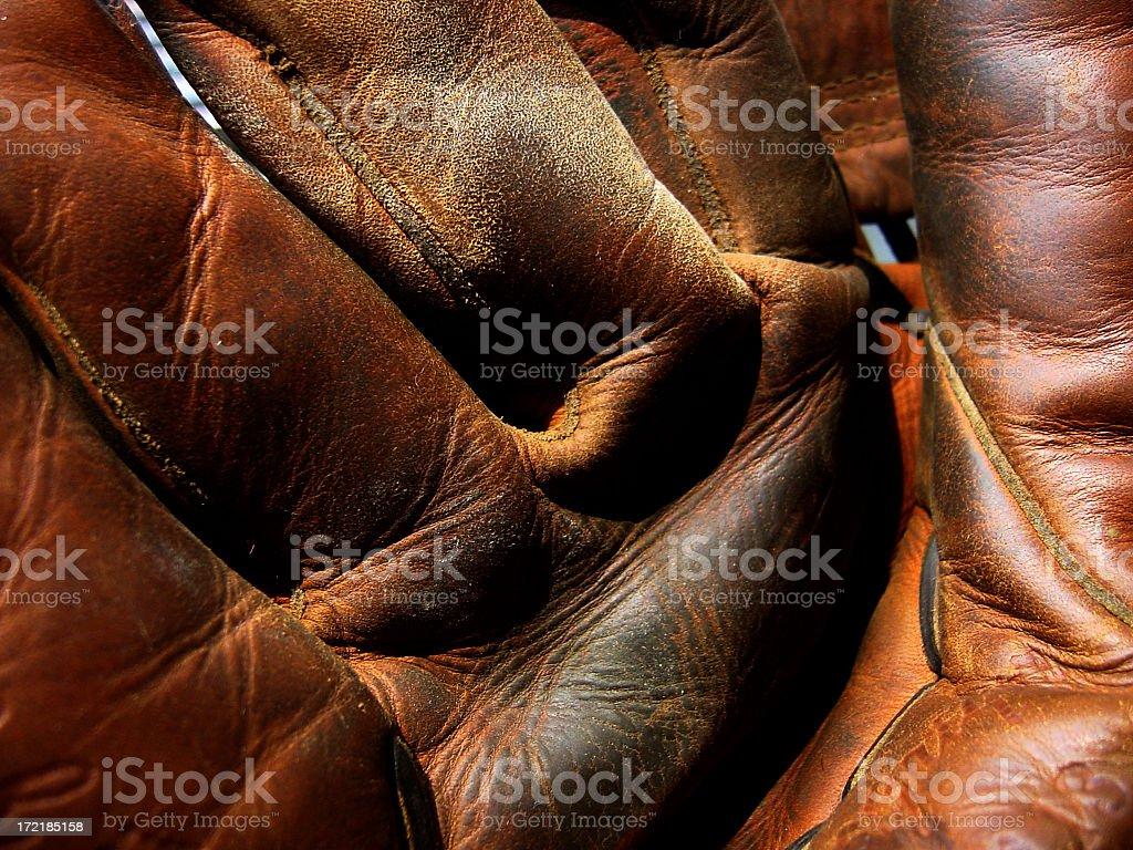 Leather Hand stock photo