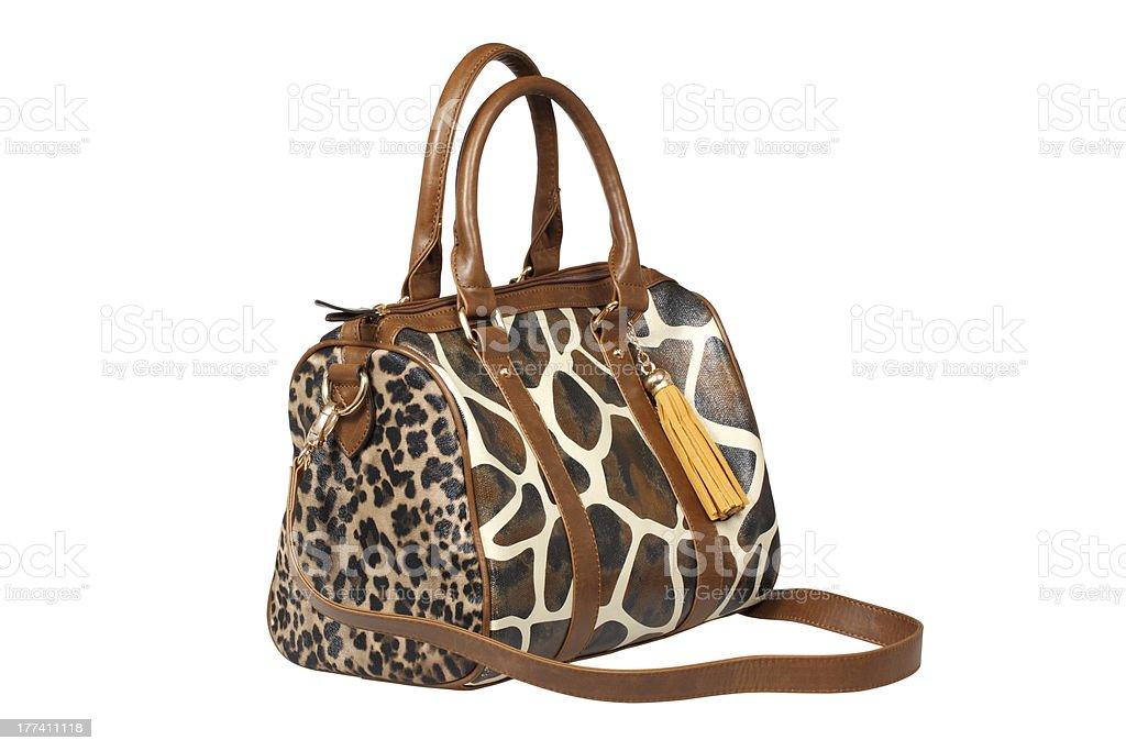 Leather handbag royalty-free stock photo
