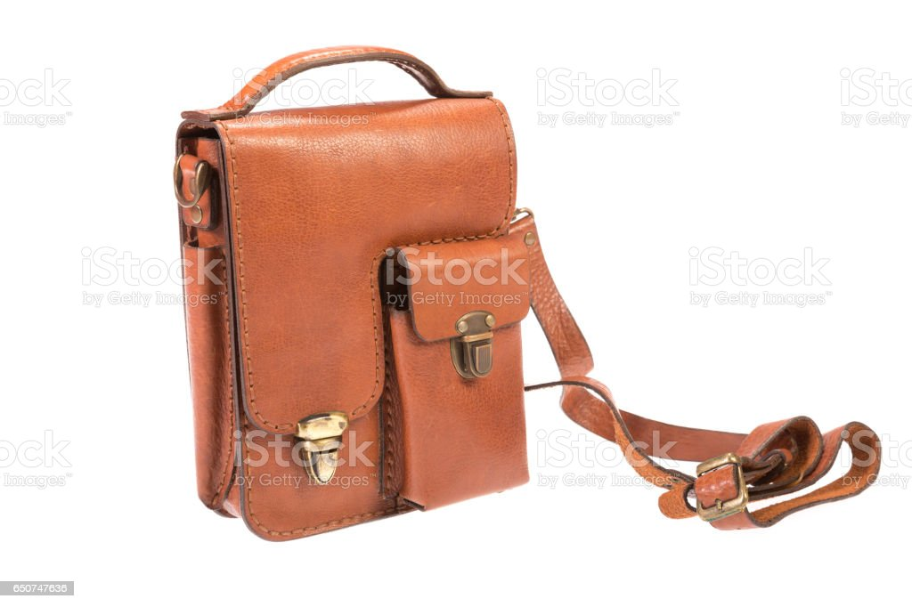 Leather HandMade Bag stock photo
