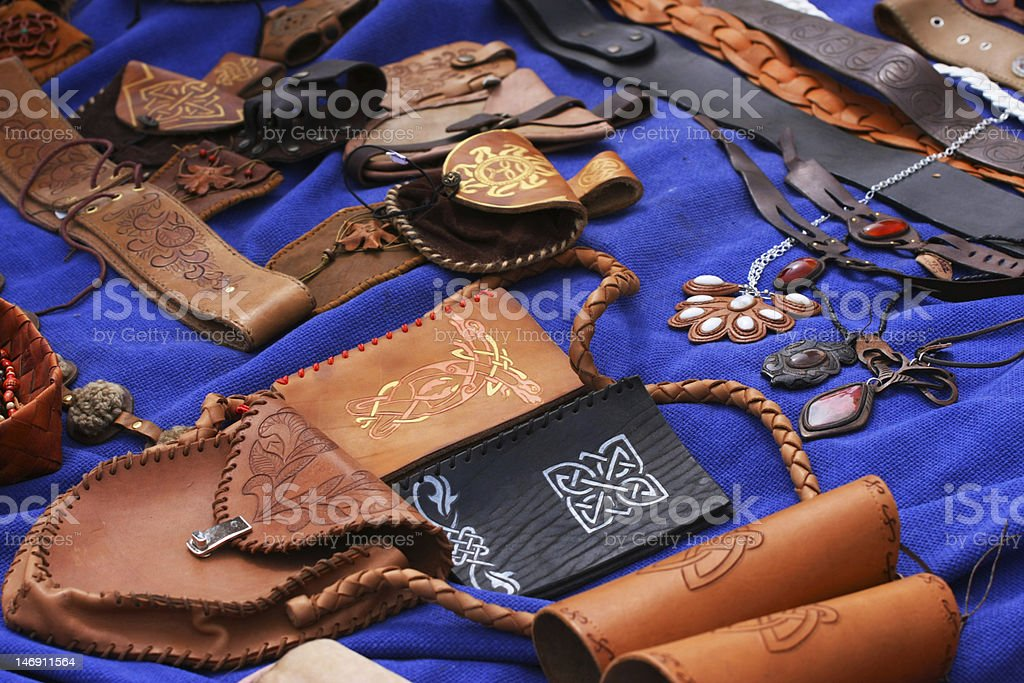 Leather hand-made royalty-free stock photo
