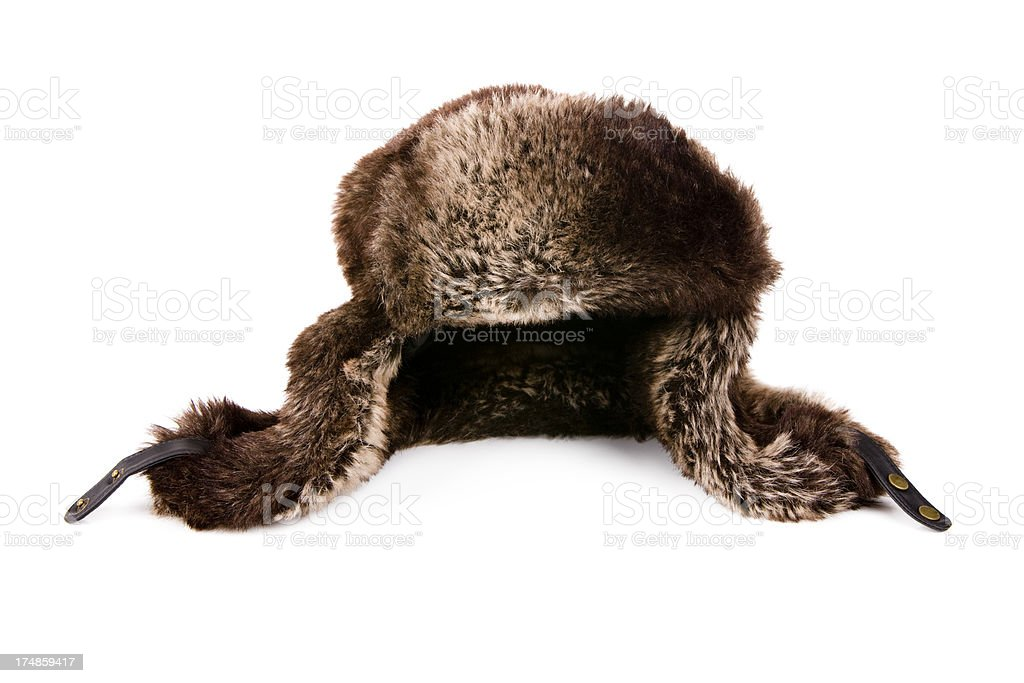 Leather Hat with Fur XXXL royalty-free stock photo