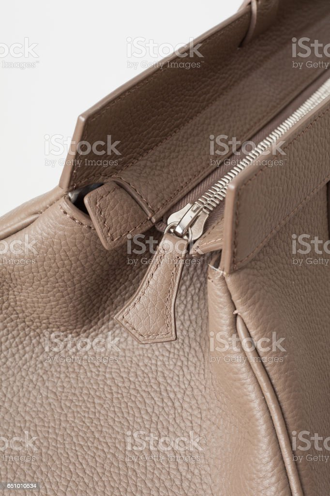 Leather Holdall stock photo