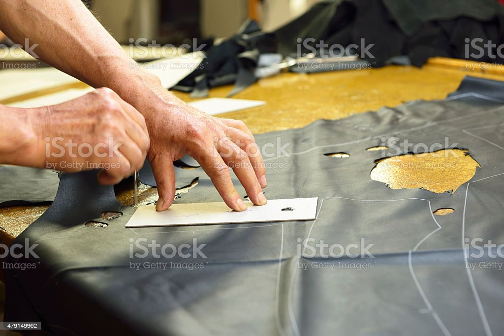 Leather Industry stock photo
