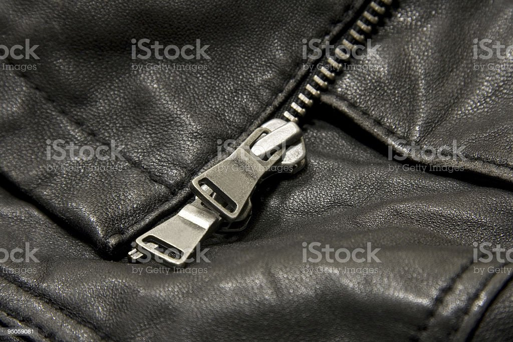 Leather jacket detail royalty-free stock photo