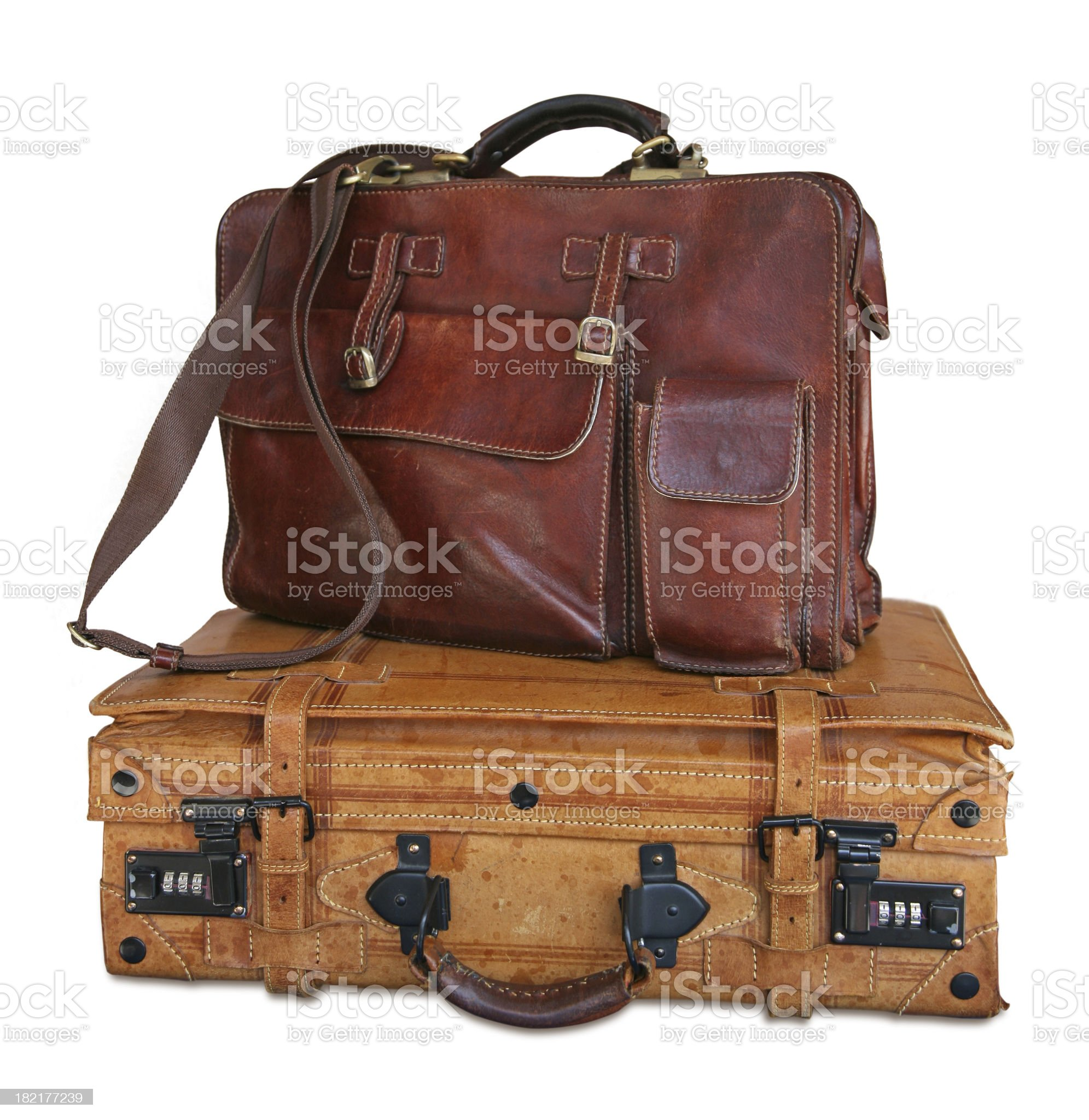 Leather luggage royalty-free stock photo