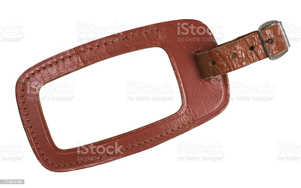 Leather Luggage Tag royalty-free stock photo