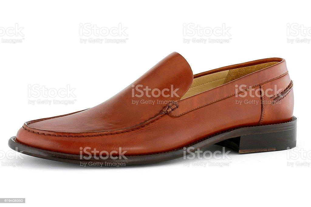 leather men shoe stock photo