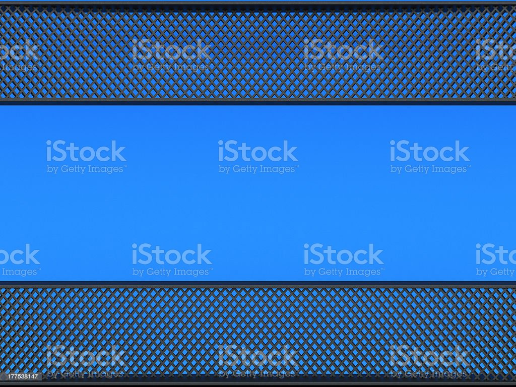 Leather: meshy pattern over blue background stock photo