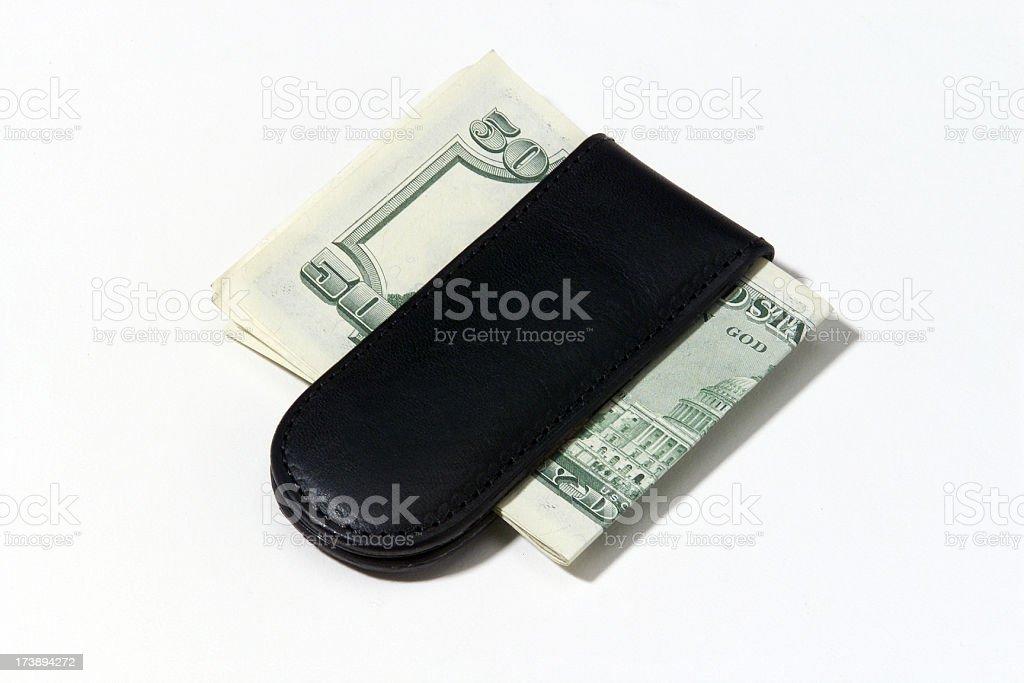 Leather Money Clip stock photo
