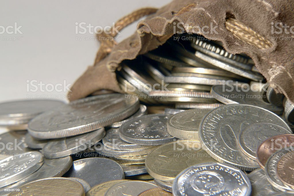 leather moneybag royalty-free stock photo