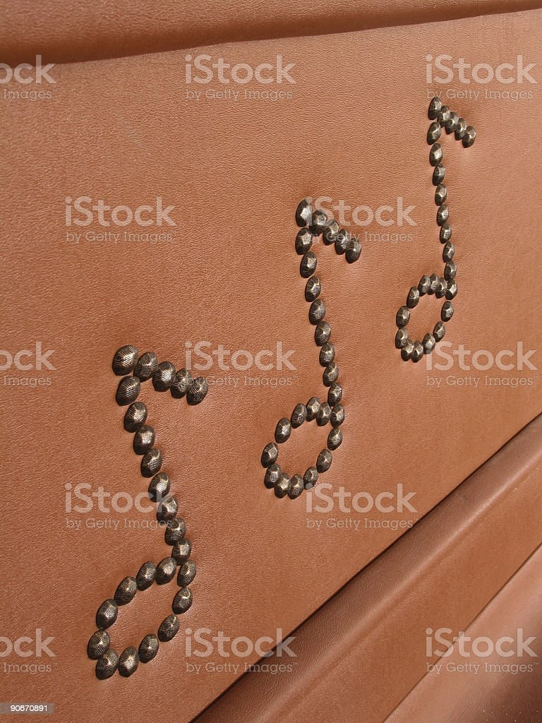 Leather Music Notes 2 stock photo