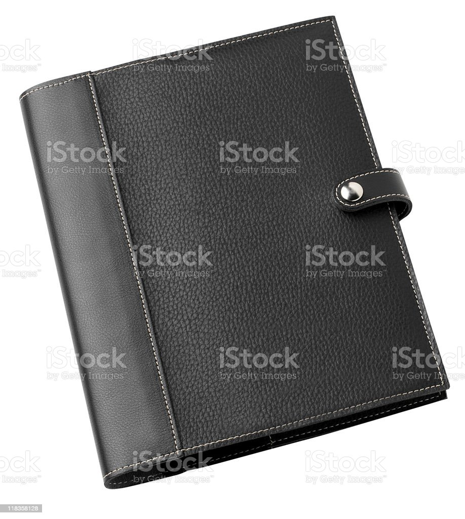 Leather Note Book Case stock photo