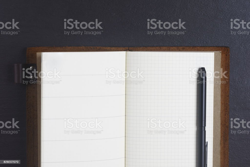 Leather Notebook Journal stock photo