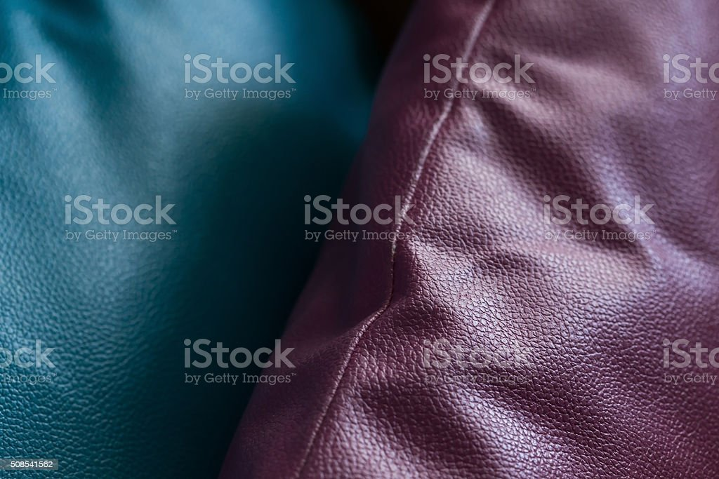 leather of pillow stock photo