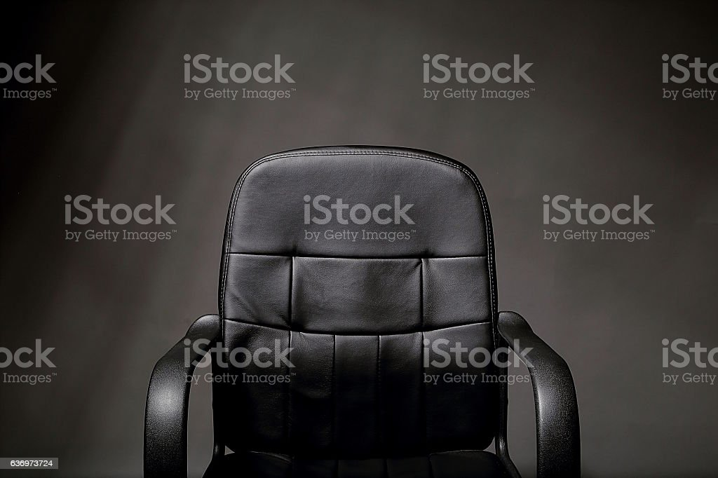 Leather Office Chair stock photo