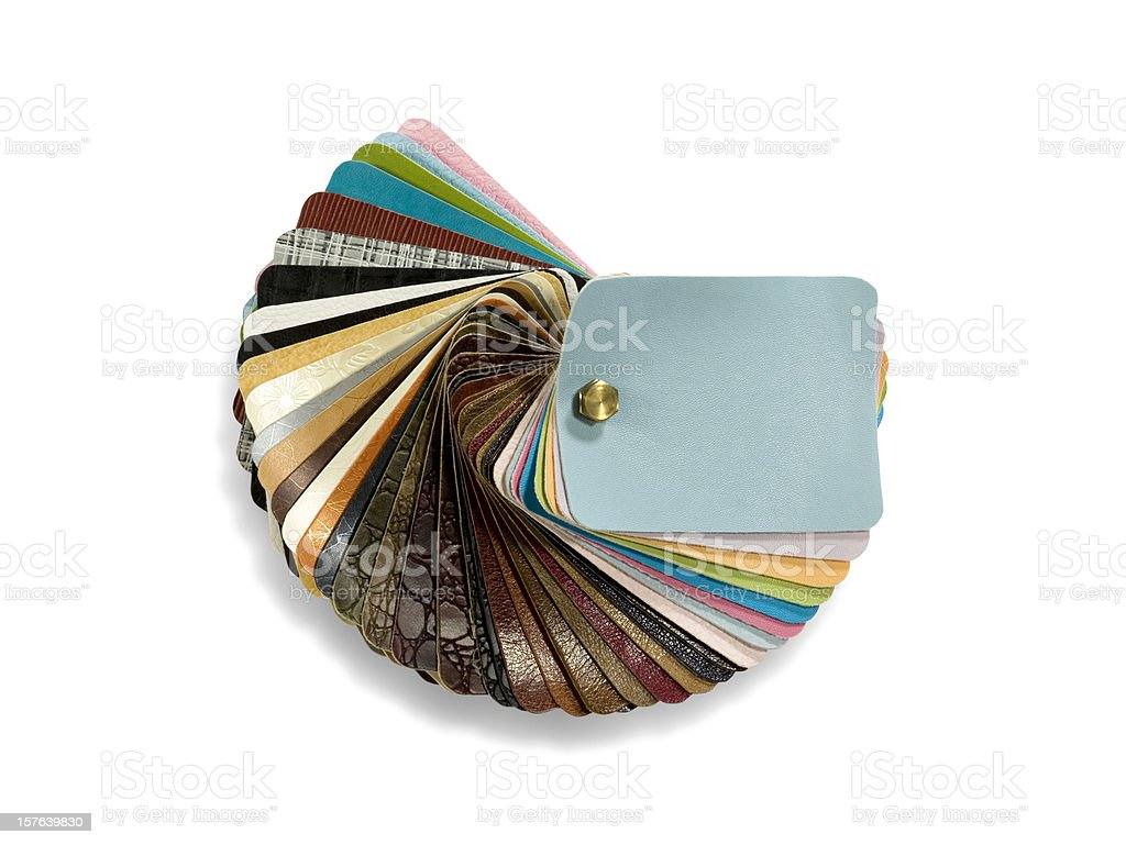 Leather palette stock photo