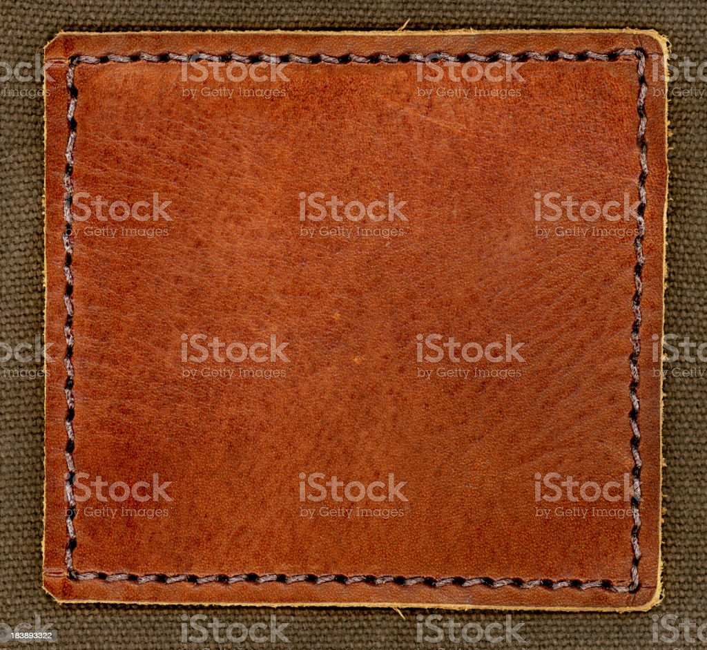 Leather Patch stock photo