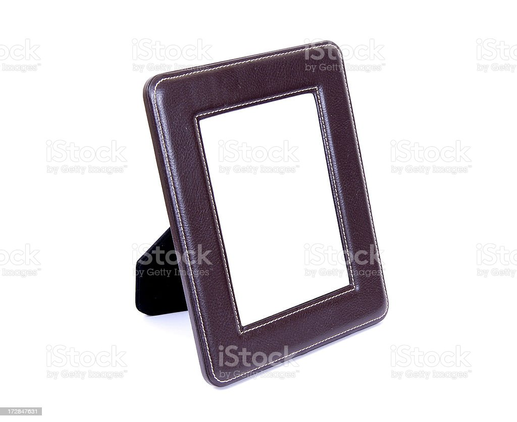 Leather Picture Frame for desktop royalty-free stock photo