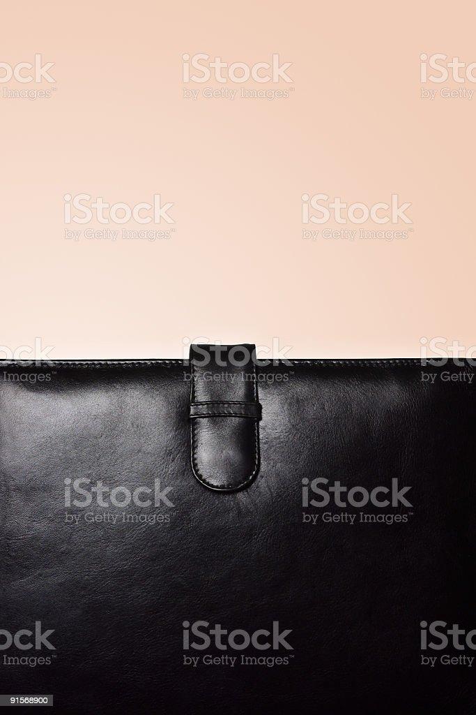 Leather Portfolio stock photo