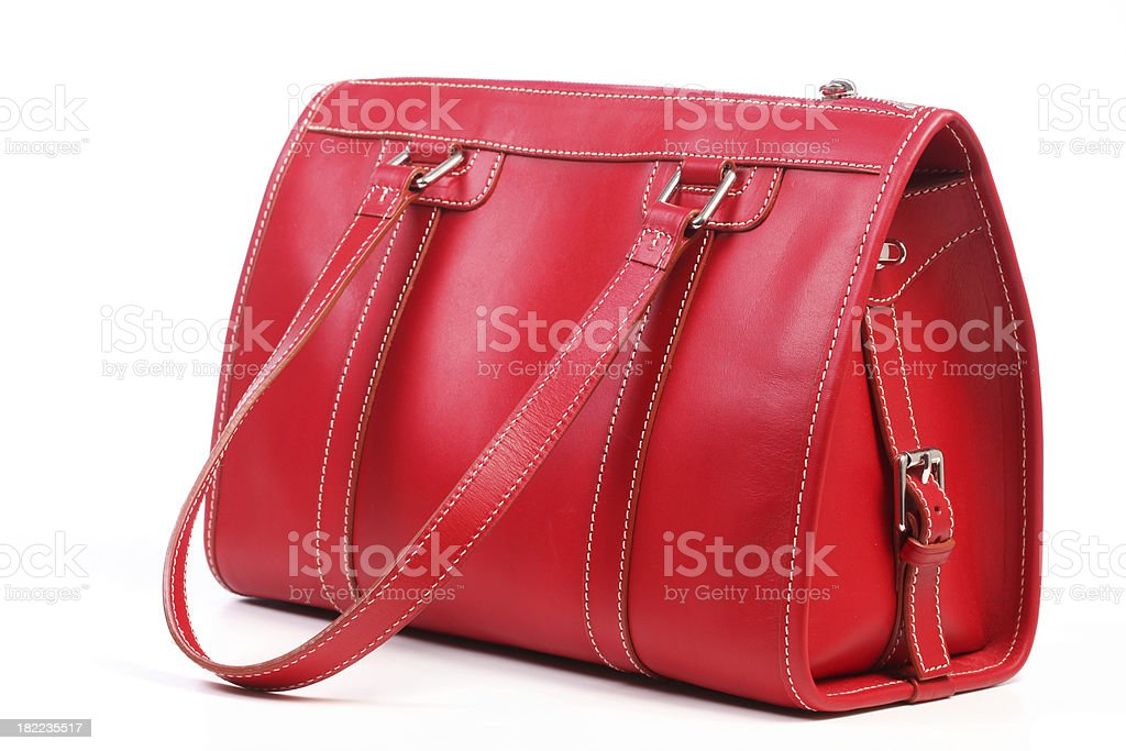 Leather purse stock photo