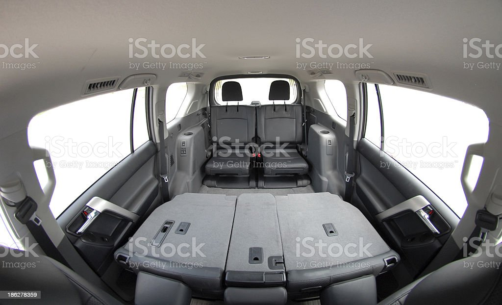 leather rear seats royalty-free stock photo