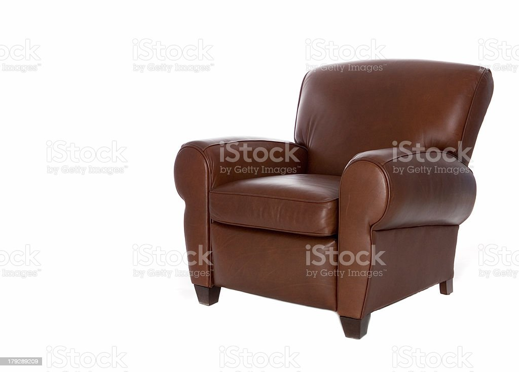 Leather Recliner Chair (Isolated) stock photo