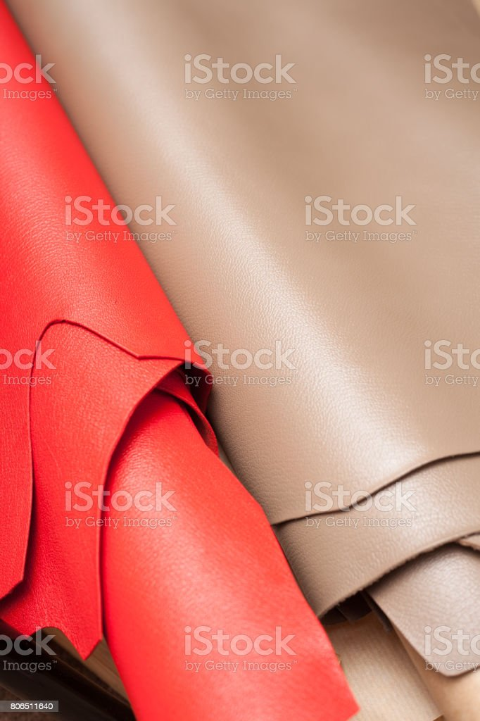 Leather Roll stock photo