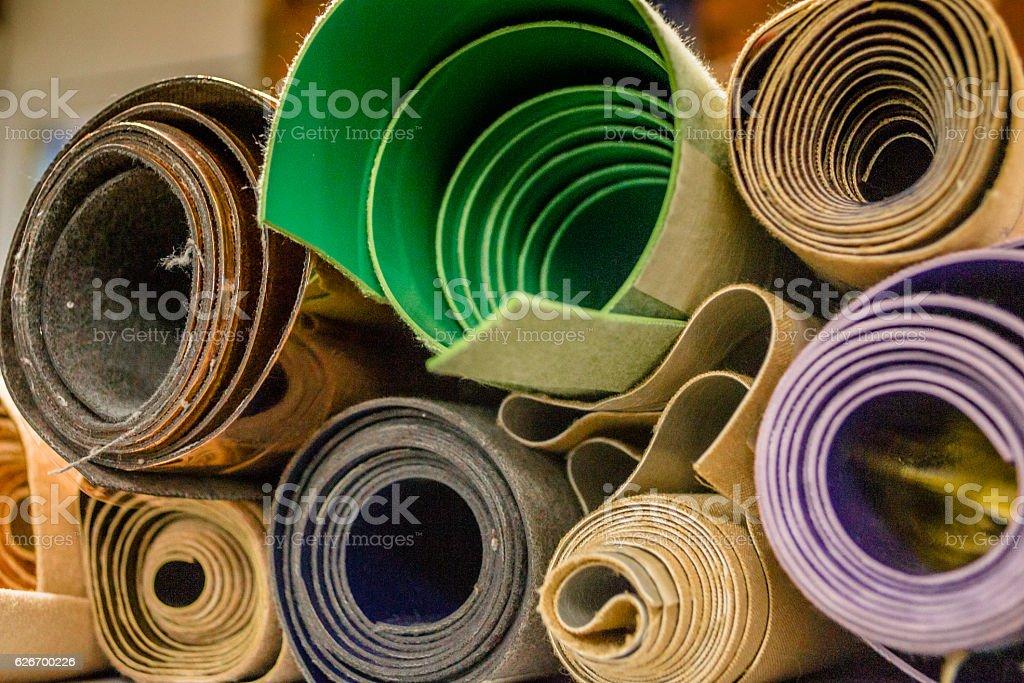 Leather rolls stock photo