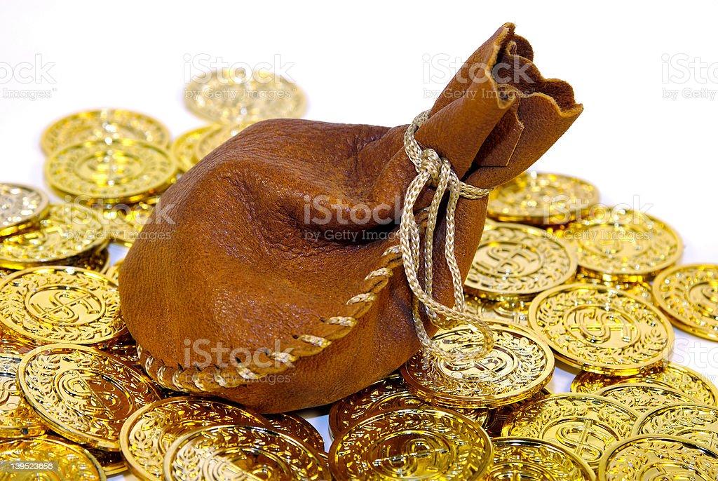 Leather Sack royalty-free stock photo
