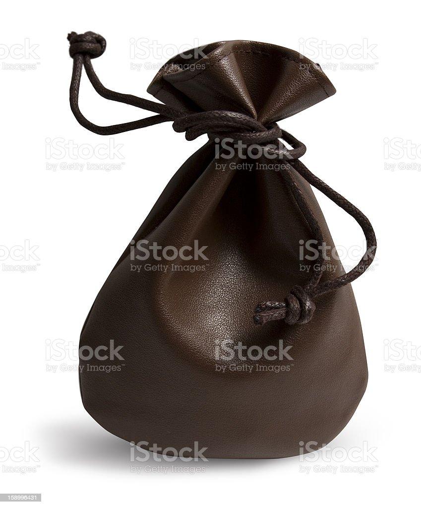 Leather Sack stock photo