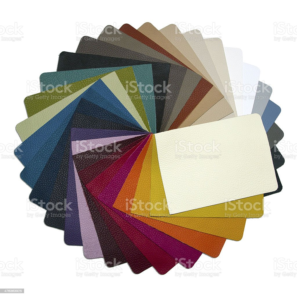 leather samples - circle royalty-free stock photo