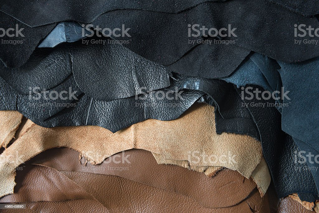 Leather samples stock photo