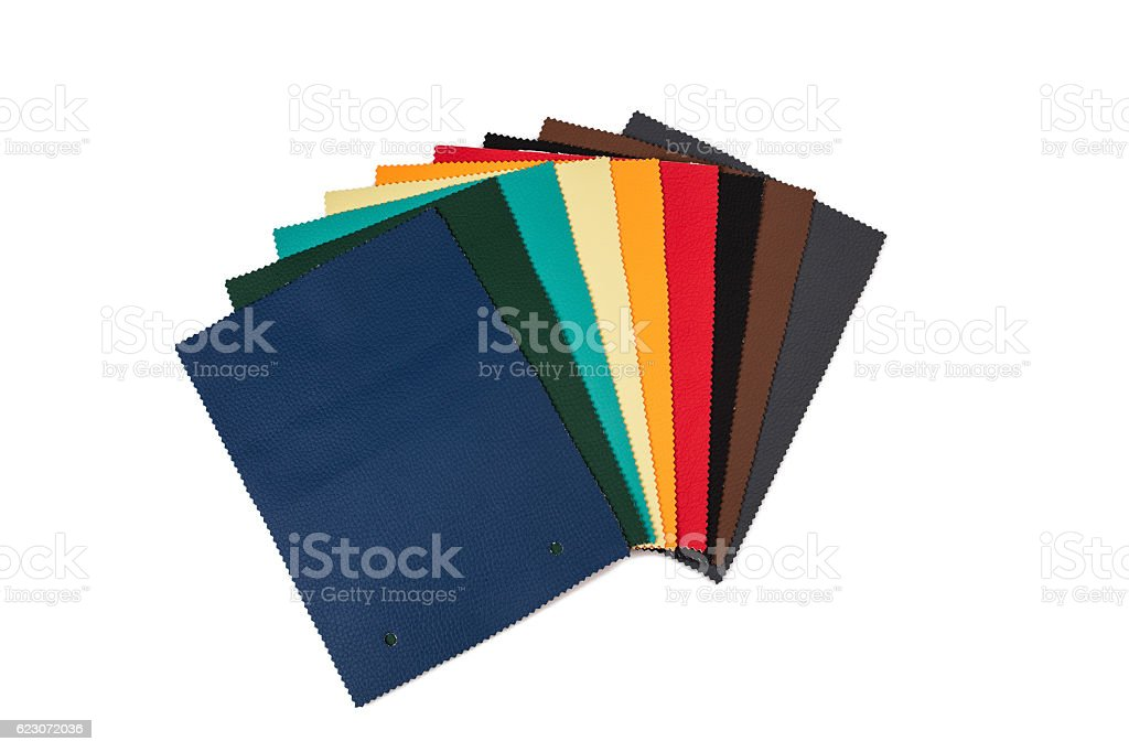 Leather samples (isolated) stock photo