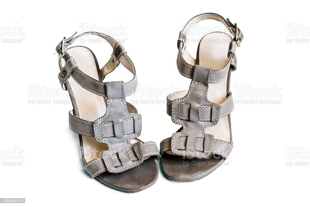Leather sandals stock photo