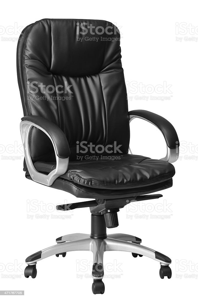 Leather seat. Clipping path. stock photo