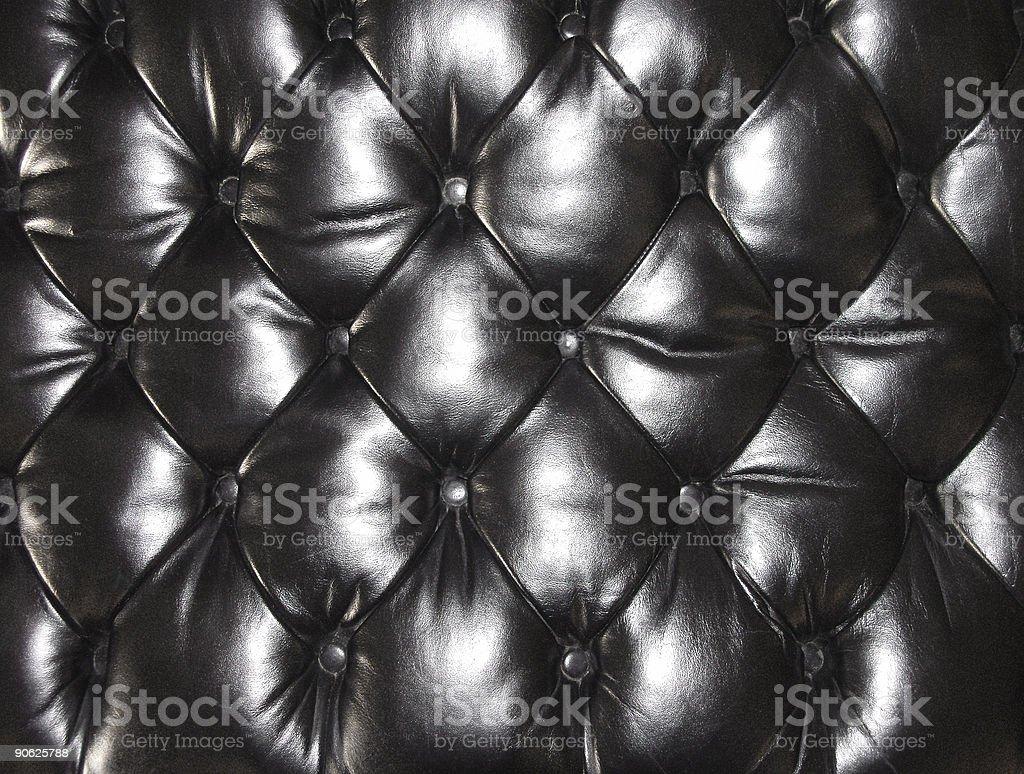 Leather Seat Cushion - Black royalty-free stock photo