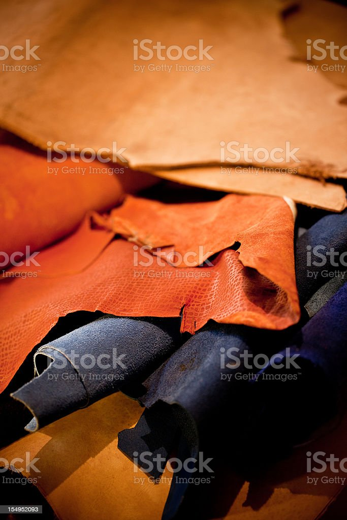 Leather selection royalty-free stock photo